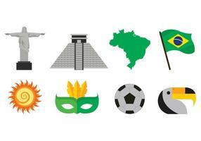 Conjunto de ícones de samba vetor