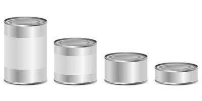 conjunto de lata vetor
