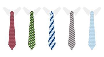 conjunto de gravatas vetor