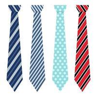 gravatas isoladas vetor