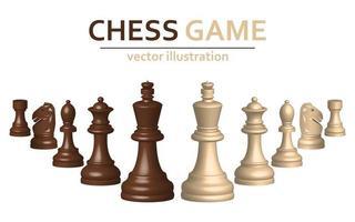 Peças de xadrez 3D vetor