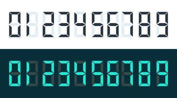 conjunto de números digitais vetor