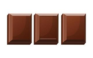 pedaços de barra de chocolate vetor