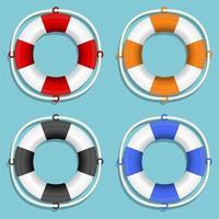 conjunto de bóia salva-vidas isolado