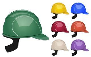 capacetes de proteção para construção vetor