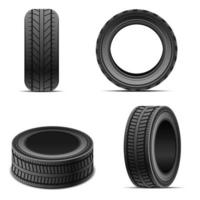 pneus de carro isolados vetor