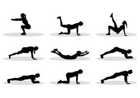 Silhueta de vetores de exercícios