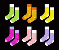 conjunto de meias coloridas vetor