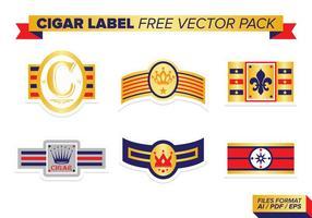 Pacote de vetores grátis para etiqueta de cigarro