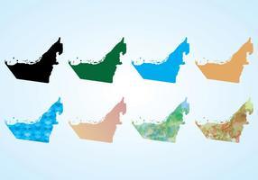 Mapa do vetor do UAE