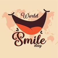 design do dia mundial do sorriso vetor