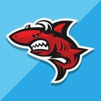 tubarão vermelho com chifres vetor
