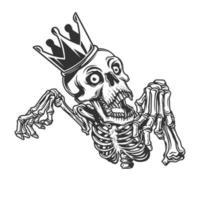 caveira de príncipe na coroa vetor