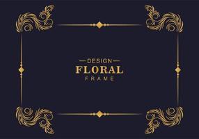borda de decoração de moldura floral ornamental vetor
