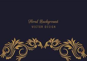 linda borda inferior floral dourada decorativa vetor