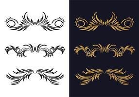 cenografia elegante decorativa ornamental floral vetor