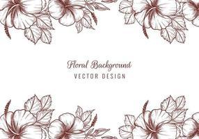 lindas bordas florais decorativas de casamento vetor
