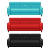 conjunto de sofás realistas