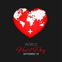 conceito do dia mundial do coração vetor