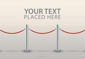 Modelo de texto de corda de veludo vetor