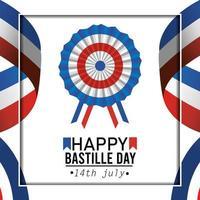 cartão comemorativo da decoração do dia da bastilha