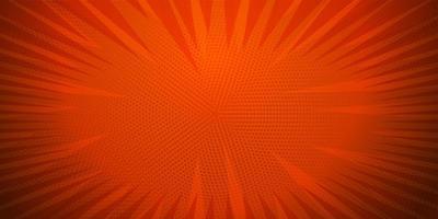 cor vermelha, quadrinhos pop art strip pano de fundo radial vetor