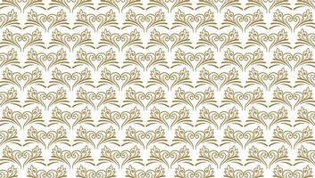 lindo padrão floral decorativo dourado vetor