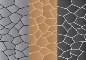 3 padrões de caminho de pedra vetor