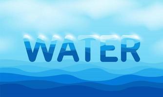 texto do dia mundial da água flutuando sobre a água vetor