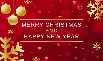 design de natal e ano novo com elementos dourados