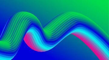 incrível design fluido colorido em 3D vetor