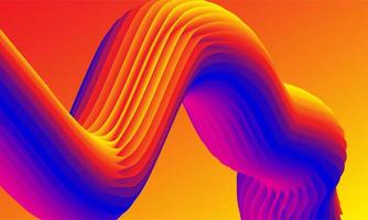 projeto 3D épico de túnel colorido vetor