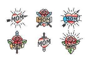 Mãe Tattoo Vector Free