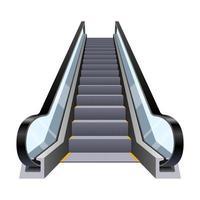 escada rolante elegante isolada no fundo branco vetor