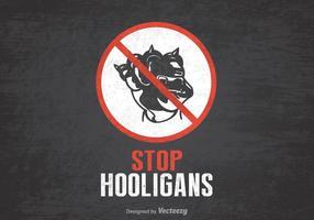 Livre Stop Hooligans Vector Poster