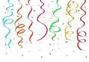 fitas de confetes coloridos vetor