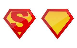 modelo de logotipo de super-herói vetor