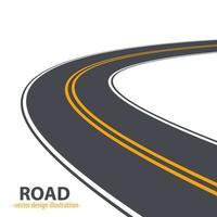 estrada do caminho isolada no fundo vetor