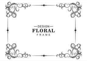 moldura decorativa floral artística vetor