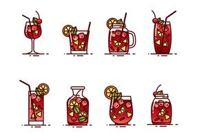Vetor de bebida sangria