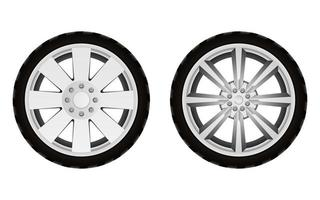 pneu de carro isolado no fundo branco vetor