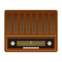 rádio antigo vintage vetor