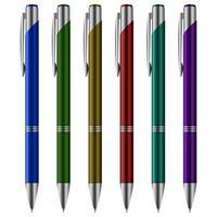 conjunto de caneta esferográfica vetor