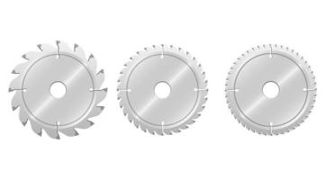 serra circular isolada no fundo branco vetor