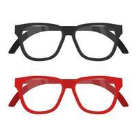 óculos isolados em fundo branco vetor