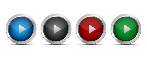botão play isolado no branco vetor