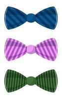 gravata borboleta estilosa vetor