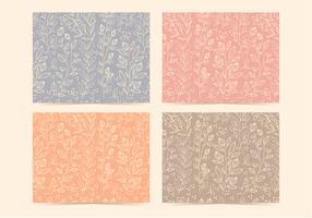 Padrões florais lineares vetoriais