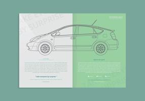 Modelo de página da Prius vetor