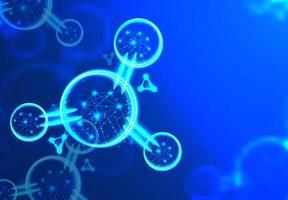 desenho de wireframe poligonal de átomo ou molécula abstrata vetor